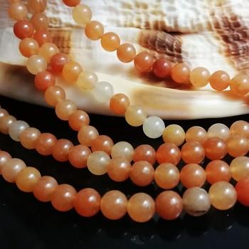Přírodní AVANTURÍN oranžový, kuličky 4,5mm, á 1ks