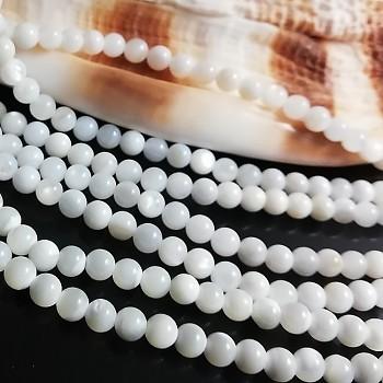 Přírodní perleť říční perly kuličky 35mm, bal. 10ks