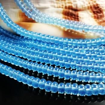 Modrý Opalit rondelky hladké 6mm, bal. 10ks