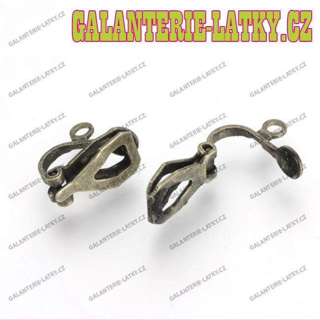 Bronzové náušnice klipsy náušnicový bižuterní komponenty db059bdcaf