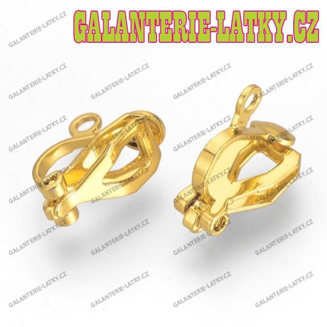 Zlaté náušnice klipsy náušnicový bižuterní komponenty 6d26d1884c