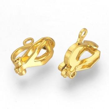 Zlaté náušnice klipsy náušnicový bižuterní komponenty