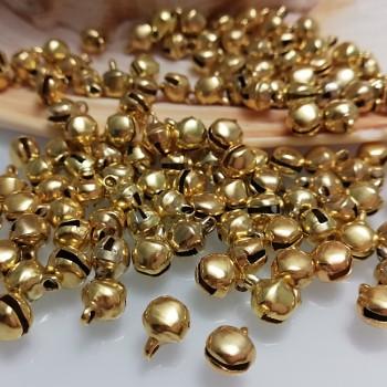 Rolničky zlaté 8/6mm,  balení 10ks