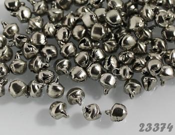 Rolničky platinové 8/6mm,  balení 10ks