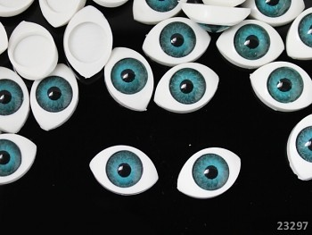 Dekorační oči BÍLÉ / HNĚDÁ duhovka,  bal. 2ks