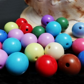 Korálky barevné 14mm MIX, á 1ks