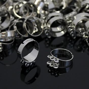 Základ pro prsten s 6 očky 18mm platina