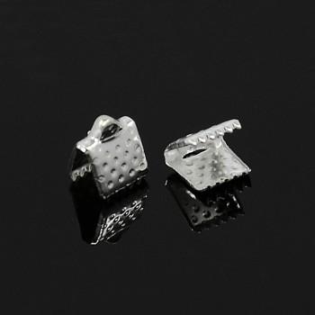 Bižuterní svorky se zoubky koncovky 8mm stříbrné, á 1ks