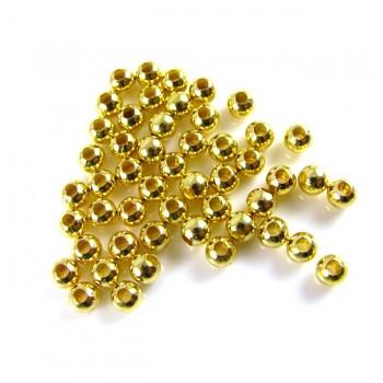 Korálky kovové ZLATÉ 3mm, 1ks