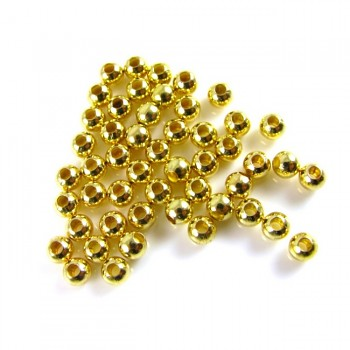 Korálky kovové ZLATÉ 5mm, 1ks