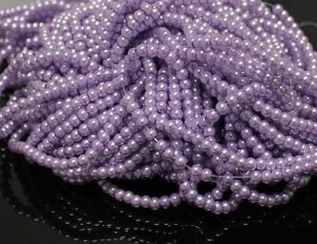 Voskované perly Ø 3mm SVĚTLE FIALOVÉ