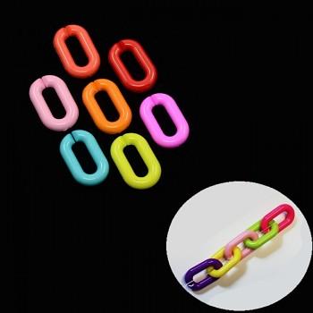 Klip na hračku, dudlík oválný kroužek na zavěšení hračky