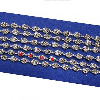 Ozdobný prýmek pro další zbobení perličkami, kamínky, á 1m