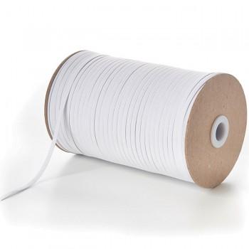 BÍLÁ pruženka guma prádlová 4mm ekonomy, á 1m