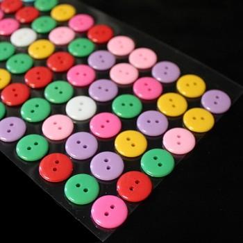 Samolepící knoflíky MIX barev kabošony knoflíky
