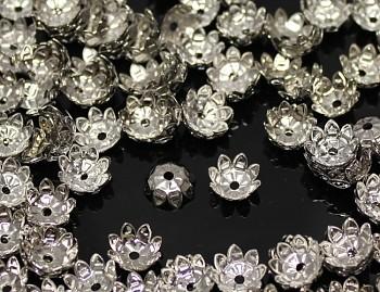 Kaplíky kytičky platinové 11mm, bal. 20ks