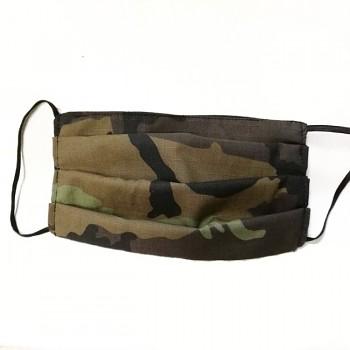 Vyrobeno v ČR ochranná rouška army maskáčová, 1ks 100% bavlna ATEST DĚTI