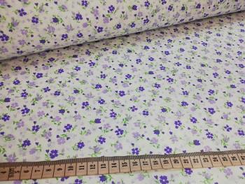FIALOVÉ KYTIČKY 100% bavlna plátno ATEST DĚTI, á 1m