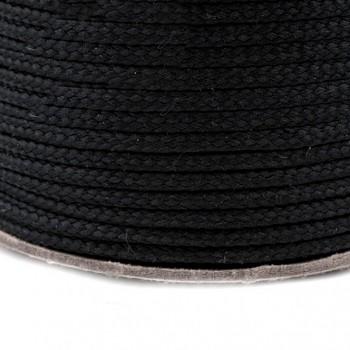ČERNÁ šňůrka oděvní na šití roušek, á 1m