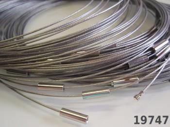 Stříbrná obruč na náhrdelník lanko se šroubkem náhrdelník