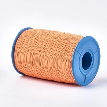 ORANŽOVÁ guma kulatá tenká pruženka elastická, á 1m
