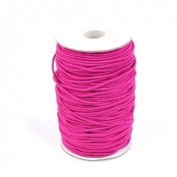 SKLADEM OD 16.4. CYKLÁM růžová guma kulatá 2mm pruženka,  á 1m