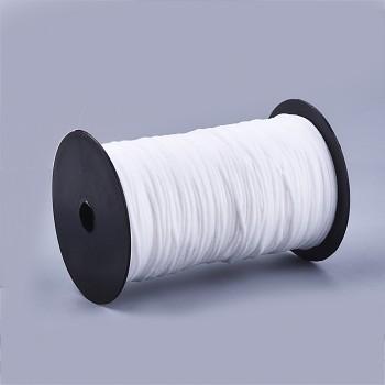 Guma určená na roušky BÍLÁ guma kulatá 2mm pruženka, á 1m
