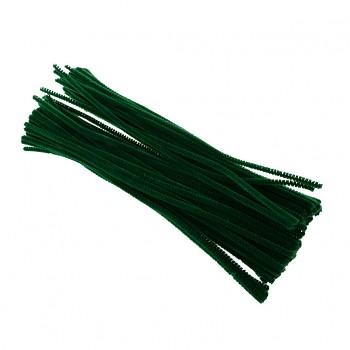 TMAVĚ ZELENÉ chlupaté drátky žinylky tvarovací drátky, á 1ks
