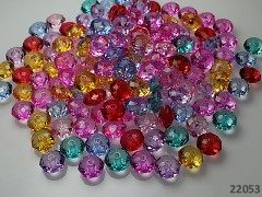 Pestrobarevný MIX korálky broušené rondelky akryl 8/5 bal. 30ks