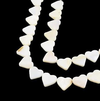 Přírodní perleť říční perly srdíčka 14mm, bal. 2ks