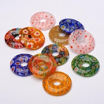 Korálky přívěšky Millefiori donuty 30mm