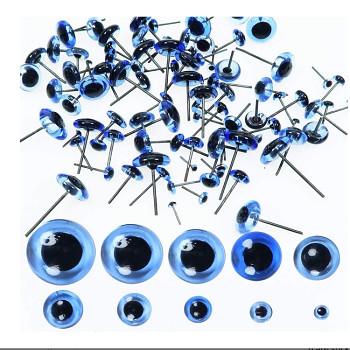 MODRÉ zapichovací oči 6mm,  bal. 10ks