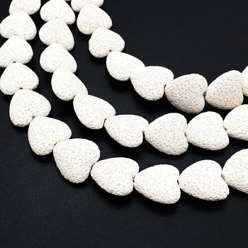 Přírodní láva BÍLÉ srdce korálek z minerálů SRDÍČKO, á 1ks