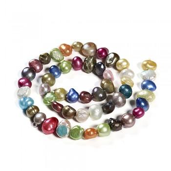Přírodní říční perly 7/8mm barevný MIX, bal. 5ks