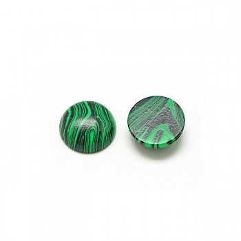 Zelený malachit kabošon 6mm, bal. 1ks