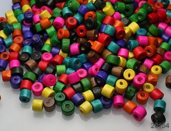 Pestrobarevný MIX korálky dřevěnékroužky 7/6 bal. 120ks