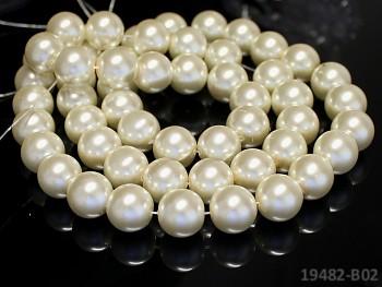 Voskované perly Ø 14mm BÍLÉ