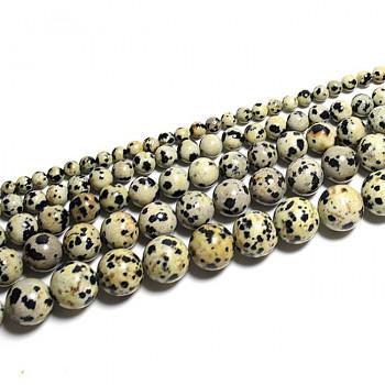 Přírodní JASPIS Dalmatin kuličky 6mm, balení 5ks